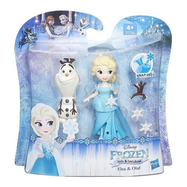 Hasbro Disney Die Eiskönigin B5186ES0 - Disney Eiskönigin Little Kingdom Freunde-Set Elsa und Olaf