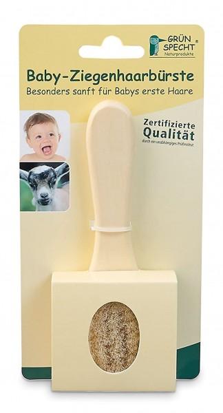 Grünspecht 520-00 Baby-Naturhaarbürste, Ziegenhaar