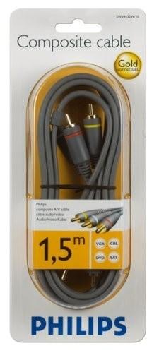 Philips SWV 2833 W/10 Koaxial (Coax) Kabel 75 dB 3,0 m schwarz