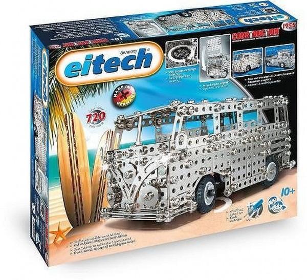 Eitech 01955 - Metall-/Jubiläumsbaukasten 60 Jahre Busmodelle Set, 720-teilig
