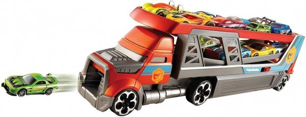 Hot Wheels CDJ19 Blasting Rig Transporter mit Platz für 14 Autos