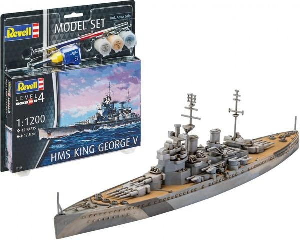 Revell REV-65161 Model Set HMS King George V Modellbausatz inkl. Farben 1/48