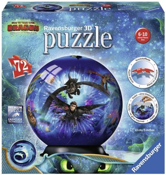 Ravensburger 3D Puzzle 11144 - Dragons 3 - 72 Teile