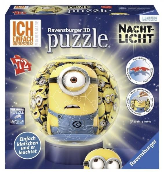 Ravensburger 12168 Minions, 3D-PuzzleBall Nachtlicht