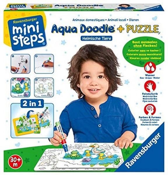 Ravensburger ministeps 04557 Aqua Doodle® Heimische Tiere
