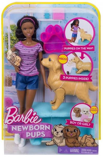 Mattel Barbie FDD44 - Hundemama, Welpen und Puppe