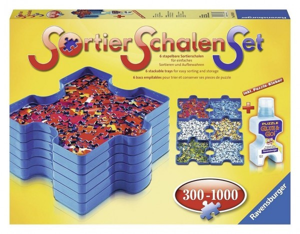 Ravensburger 82110 Sortierschalen-Set + Puzzle Kleber