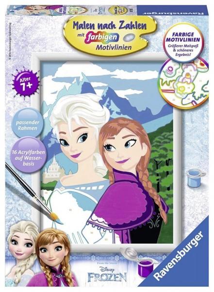 Ravensburger 28578 Malen nach Zahlen Elsa und Anna