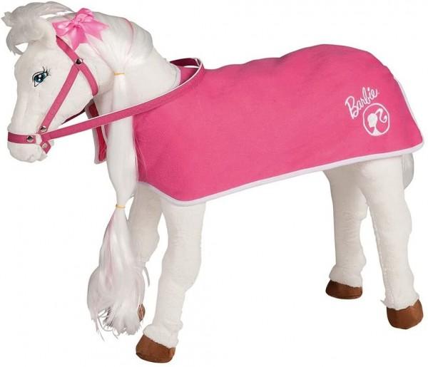 Happy People 58050 Barbie Pferdedecke 2-in-1, Stepp Design, rosa